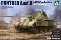 Panther Ausf.D Late Prod. with Zimmerit & Full Interior 1/35