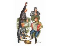 WW II Soviet TANK SOLDIERS 1/35