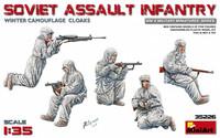 Soviet Assault Infantry (Winter Camouflage Cloacks) 1/35