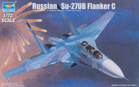 Sukhoi Su-27UB Flanker C Russian Fighter 1/72