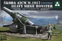 Skoda 42cm M.1917 Heavy Siege Howitzer & Erich von Manstein Figure 1/35