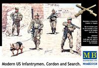 Modern US Infantrymen. Cordon and Search 1/35