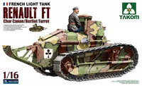 French Light Tank Renault FT Char Canon/Berliet Turret 1/16
