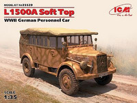 Mercedes L1500A Soft Top, wwII German personnel Car 1/35