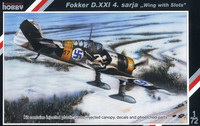Fokker D.XXI 4. sarja Wing with Slots 1/72