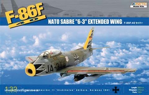 "F-86F40 Sabre ""6-3"" Extended Wing 1/48"