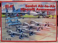 Soviet AIR-TO-AIR AIRCRAFT ARMAMENT (R-27ER, R-27ET, R-73, R-77 MISSILES) 1/72