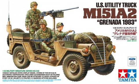M151 A2 Grenada 1983 with 3 Figures 1/35