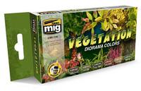 Vegetation Diorama Colors Paint Set