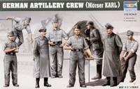 German ARTILLERY CREW (MORSER KARL) 1/35