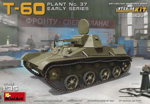 T-60 (Zavod no.37) Early Series Soviet Light Tank (Interior Kit) 1/35
