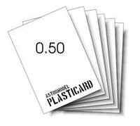 Muovilevy valkoinen (vahvuus 0,50mm)