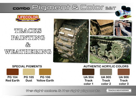 Tracks Painting & Weathering Pigment & Color Combo Set