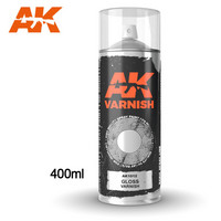 Gloss Varnish Spray 400ml (Mukana kaksi suutinta)