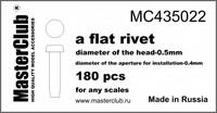 Flat rivet, diameter-0.5mm