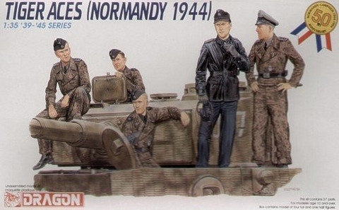 Tiger Aces Normandy 1944 Figure Set 1/35