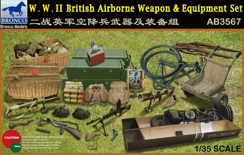 British ww 2 Airborne Weapon & Equipment Set 1/35