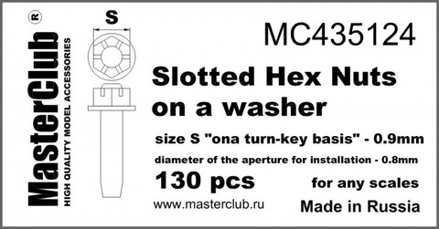 "Slotted Hex Nuts on A washer, Size S ""on A Turn-Key basis"" - 0.9mm"