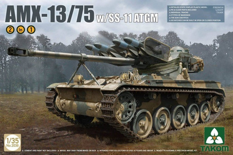 AMX French Light Tank with SS-11 ATGM (2 in 1) 1/35