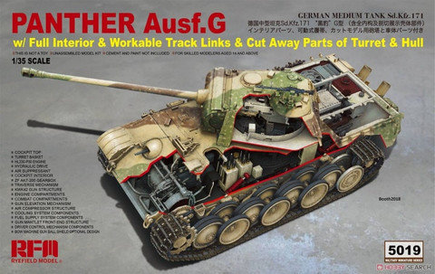 Panther G with Full Interior & Cut Away Parts 1/35