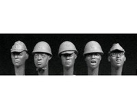 5 Japanese Heads 1/35