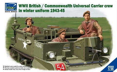 WWII British/Commonwealth Universal Carrier Crew in Winter Uniform 1943-45 1/35