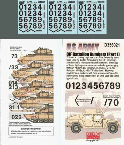 US Army OIF Battalion Numbers (Part 1) 1/35