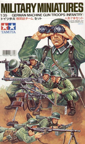 German machine gun troops 1/35