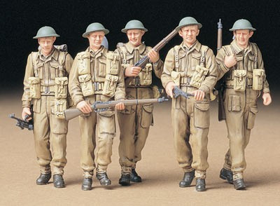 British infantry on patrol 1/35