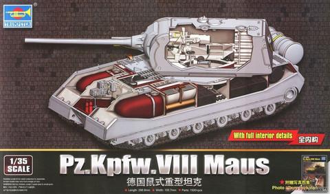 PzKpfw VIII Maus with full interior (1500 osaa)