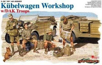 Kubelwagen Workshop with DAK troops 1/35