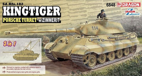 Tiger II Porsche with zimmerit + crane assembly (2 in 1) 1/35