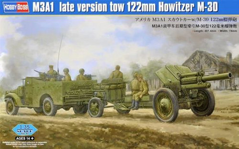 Hobby Boss 84537 M3A1 Late Version Tow 122mm Howitzer M-30 1/35