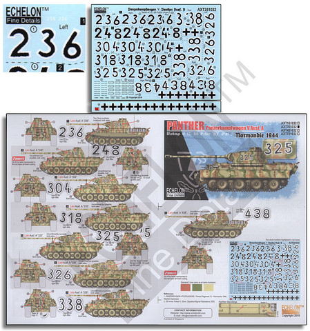 12.SS-Pz.Div. Panther tanks Part.2 Normandy 1944 1/35