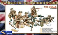 British Machine Gun Team in Combat 1/35