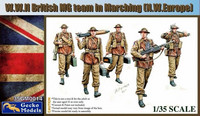 British Machine Gun Team Marching 1/35