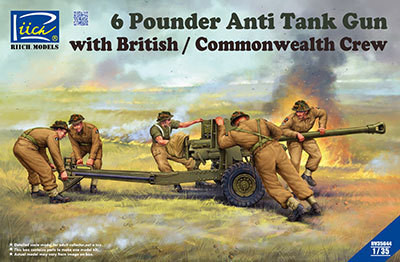 6 Pounder Anti-Tank Gun with British/commonwealr´th Crew 1/35