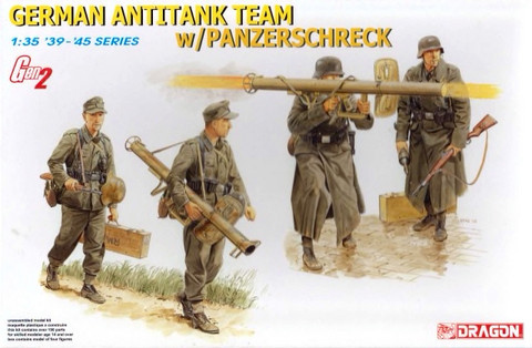 German Anti-Tank Team with Panzerscherck 1/35