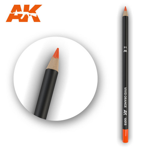 Watercolor Pencil Vivid Orange