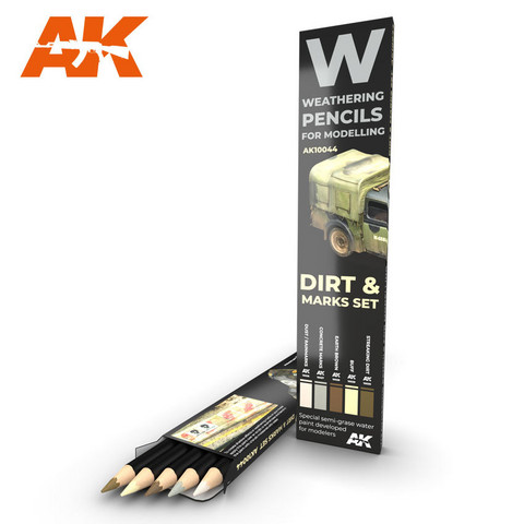 Watercolor Pencil Set Splashes, Dirt and Stains