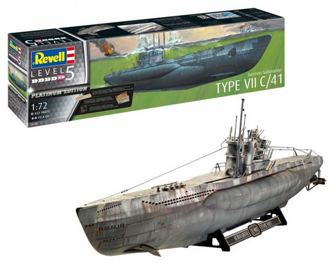Typ VIIC/41 U-boot German Submarine 1/72