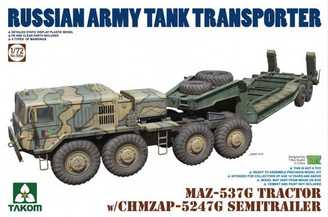 MAZ-537G Tractor with CHMZAP-5247G Trailer 1/72