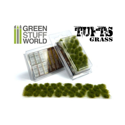 Grass Tufts 6mm self-adhesive Dry Green