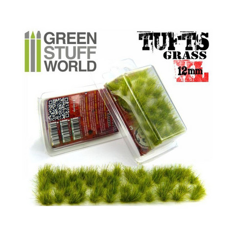 Grass Tufts XL 12mm self-adhesive Realistic Green