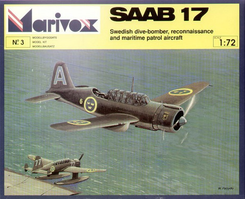 Saab 17 Swedish WW II Era Dive Bomber 1/72