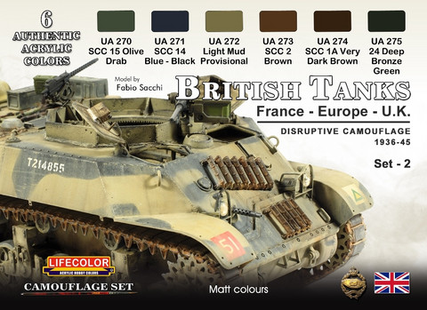 British Tanks Disruptive Camouflage 1936-45 Europe