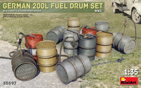 German 200l Fuel Drum Set (wwII) 1/35