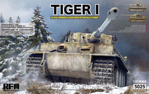 Tiger I Witmann with Full Interior (Clear Edition) 1/35