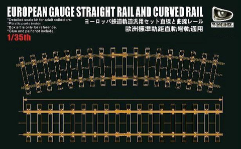 European Gauge Straight Rail and Curved Rail Lenght 36cm 1/35
