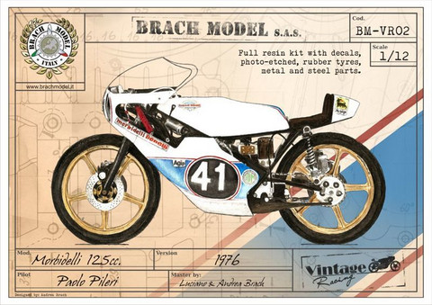 Morbidelli 125 cc. 1976 Paolo Pileri version (Full kit)  1/12